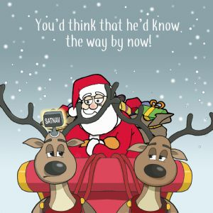 XMAS19  Merry Christmas Card Youd Think Hed Know the Way By Now